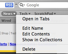 Bookmarks In Tabs